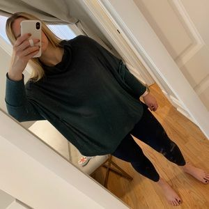Ombré Sweater Poncho